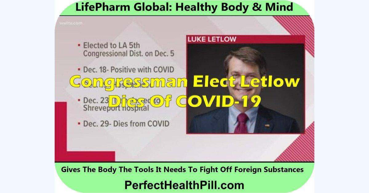 Congressman elect Letlow dies of COVID-19